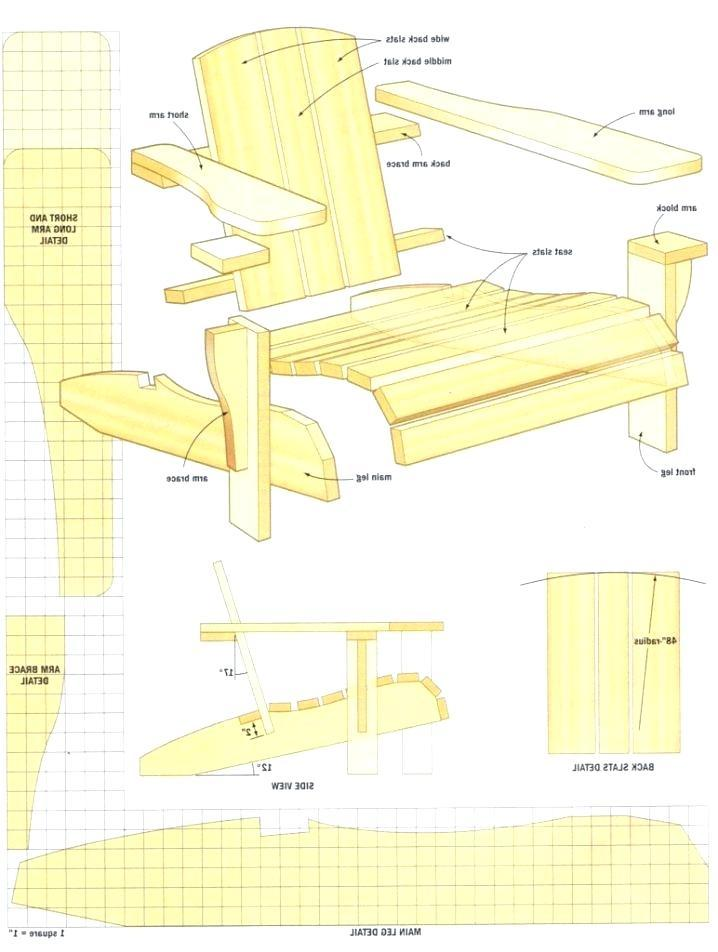 Adirondack Chair Blueprints Free