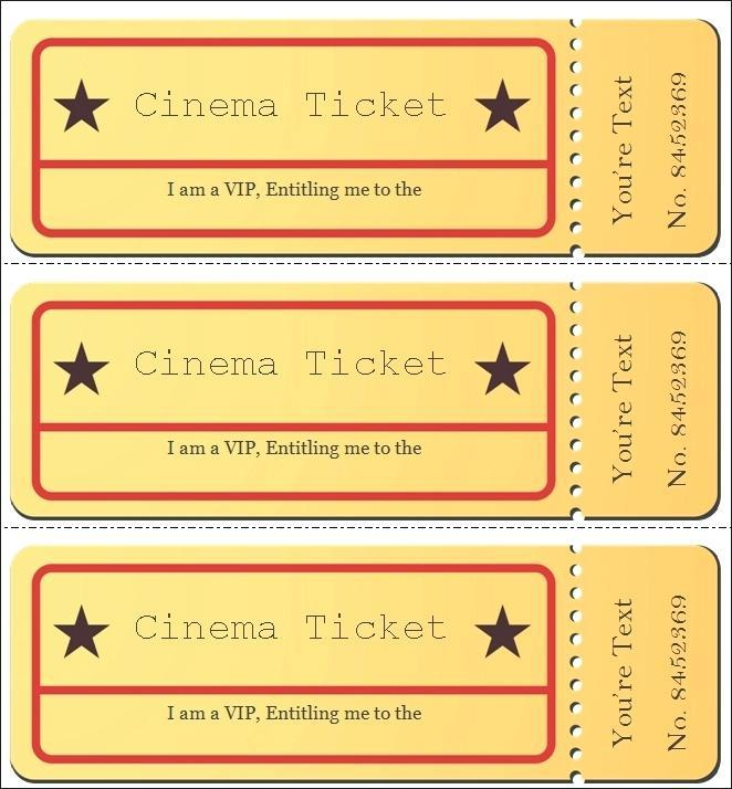 Admission Ticket Samples