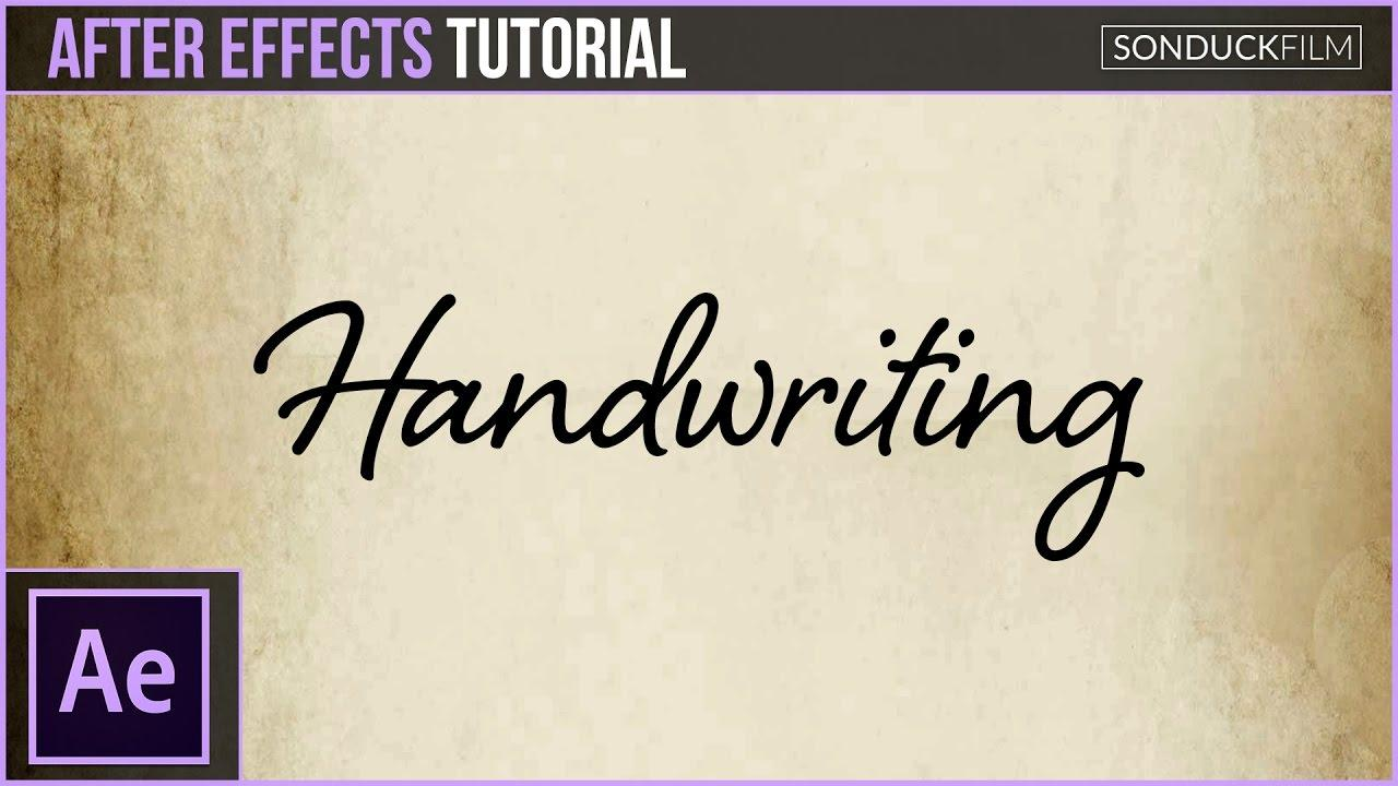 Adobe After Effects Handwriting Template