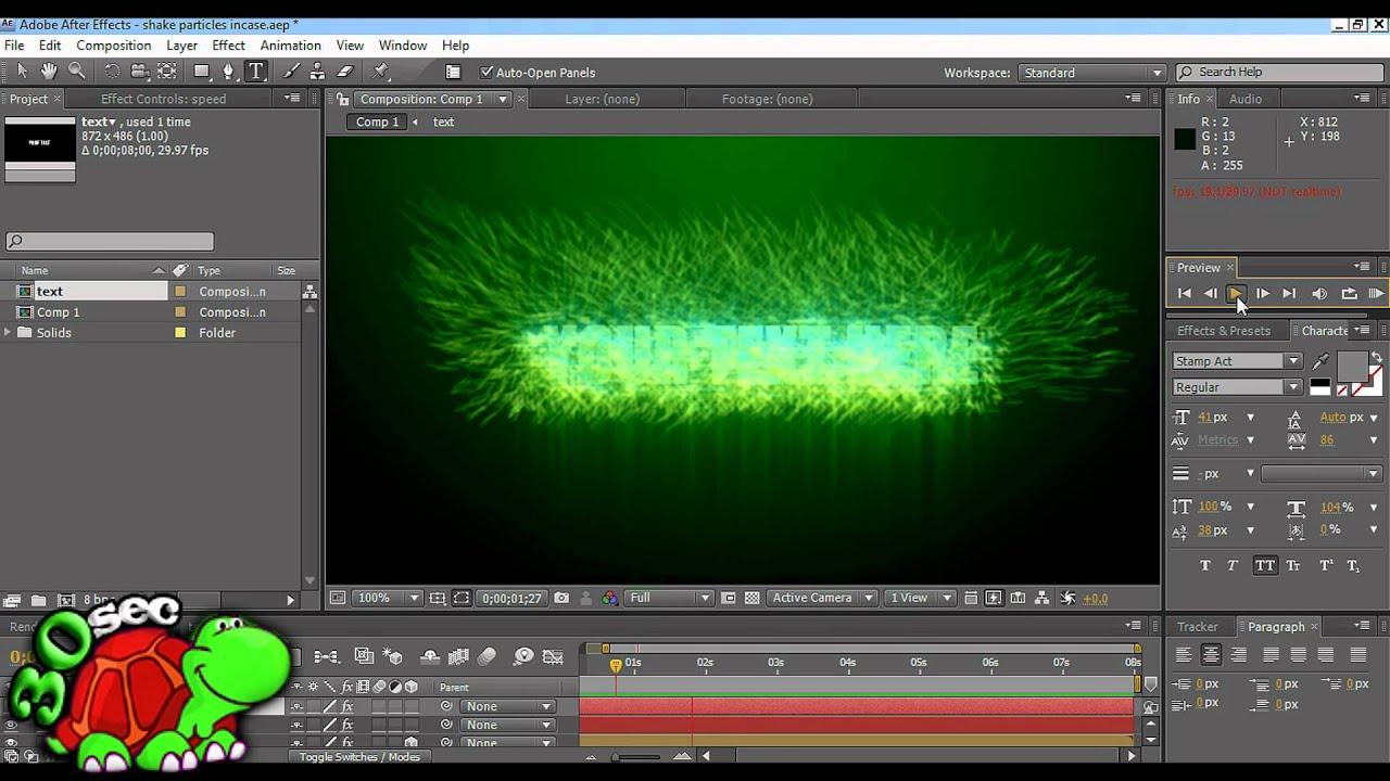 Adobe After Effects Particles Template