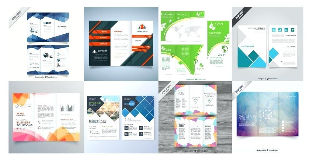 Adobe Illustrator Blank Brochure Templates