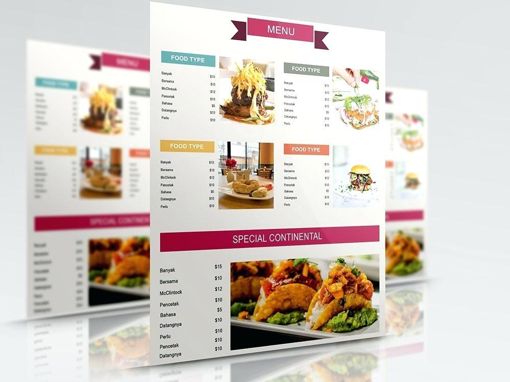 Adobe Illustrator Cafe Menu Template