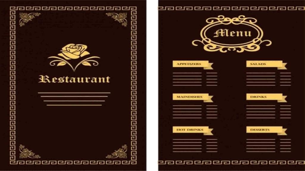 Adobe Illustrator Food Menu Template