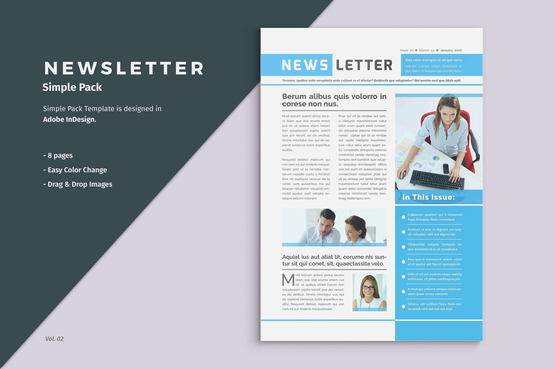 Adobe Illustrator Newsletter Templates Free