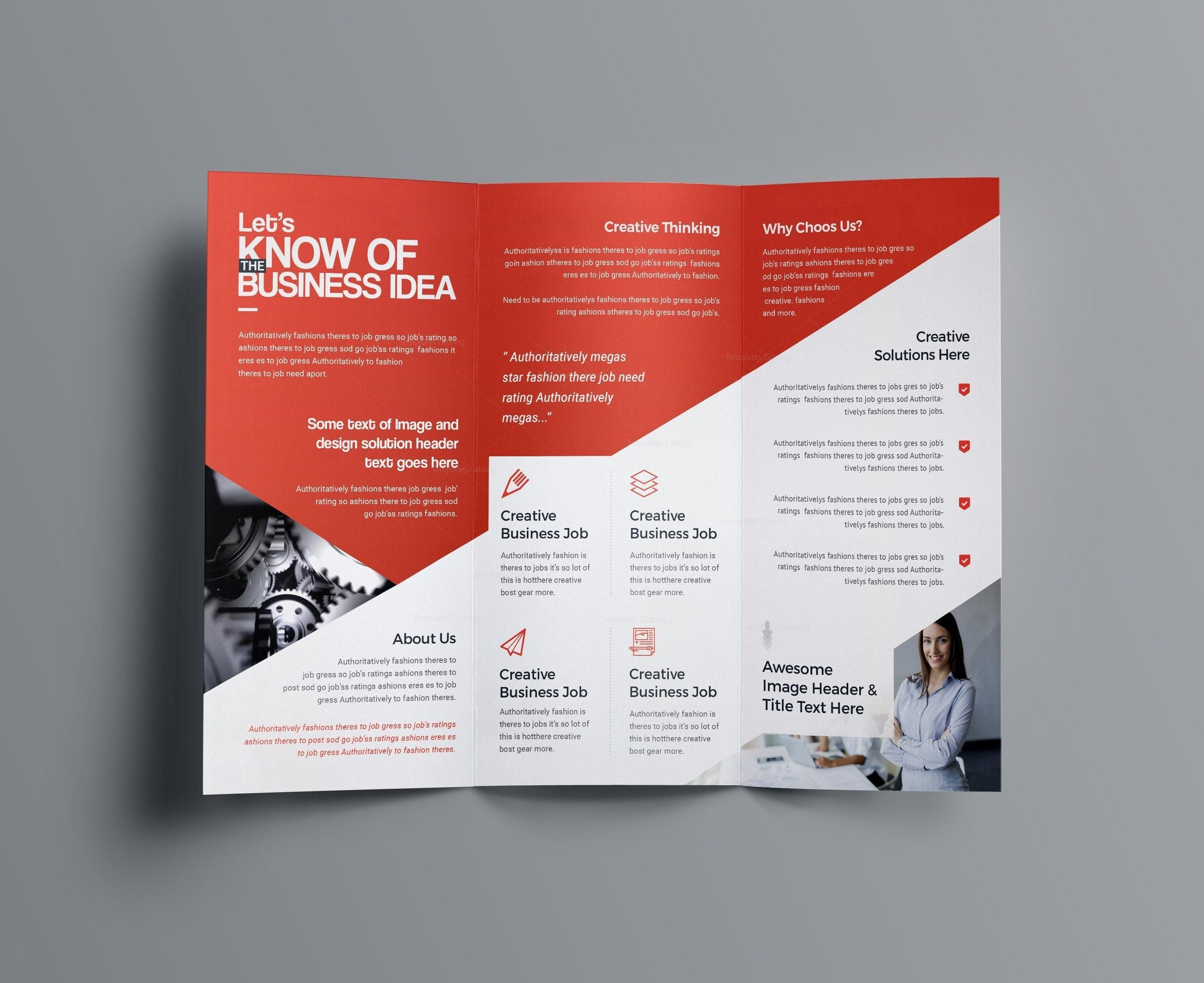 Adobe Illustrator Tri Fold Brochure Templates Free
