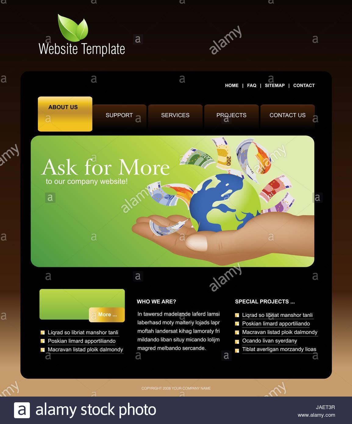 Adobe Illustrator Website Templates