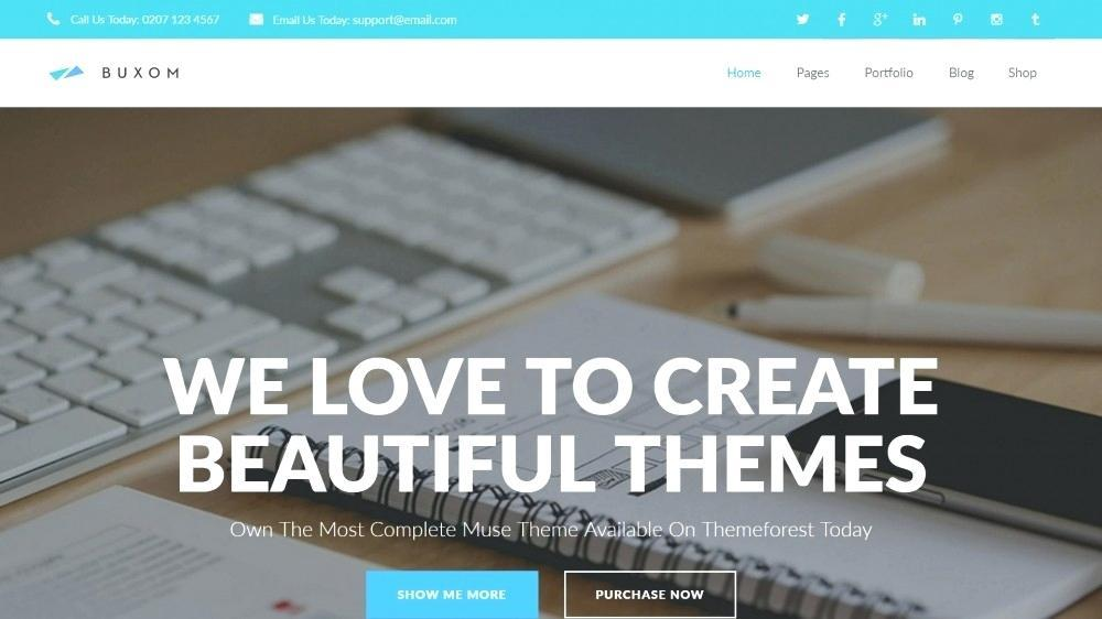 Adobe Muse Responsive Template Download