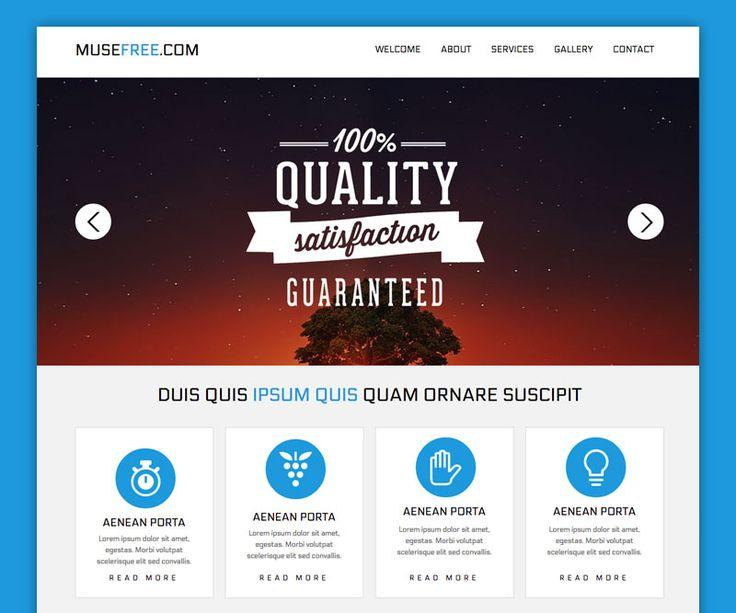 Adobe Muse Web Templates Free