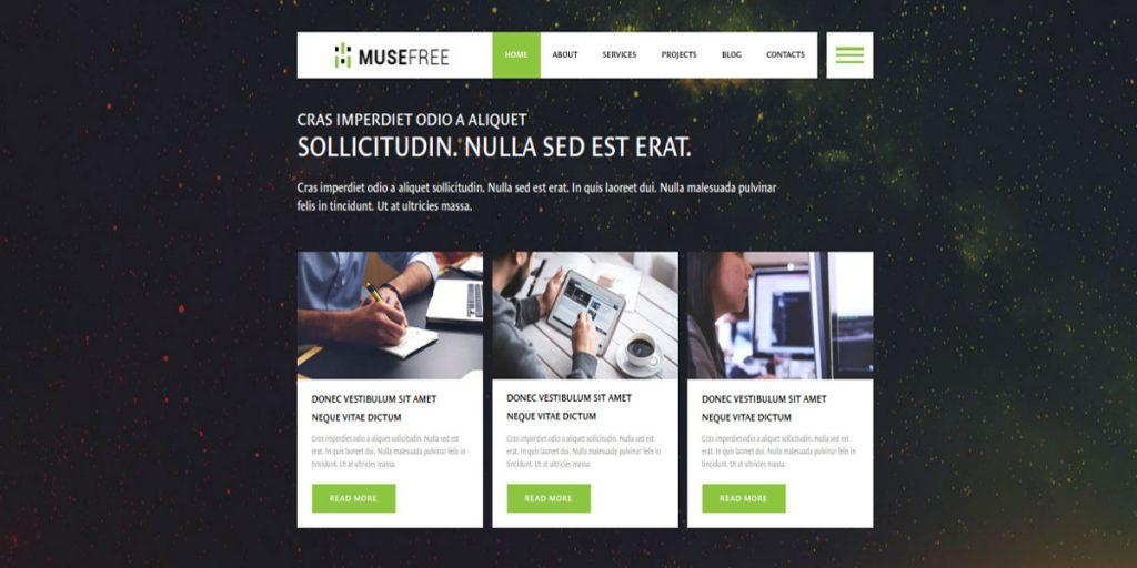 Adobe Muse Website Templates Free Download