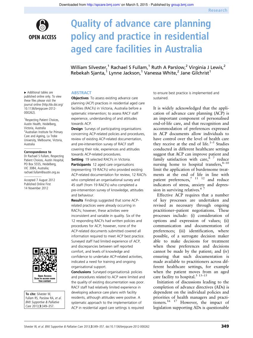 Advance Care Directive Form Vic