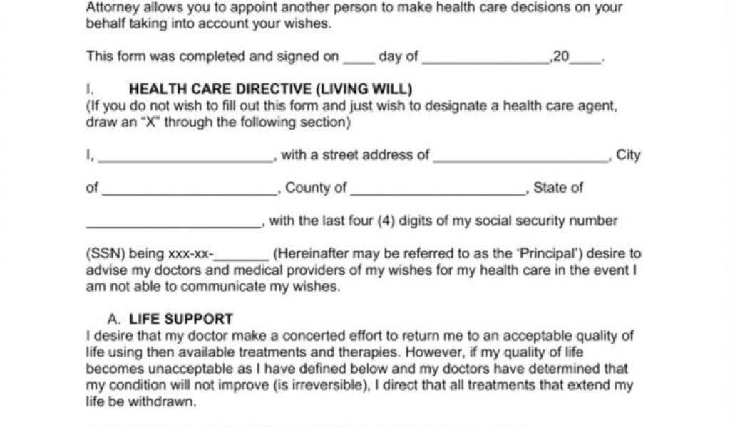 Advance Care Directive Template Nsw