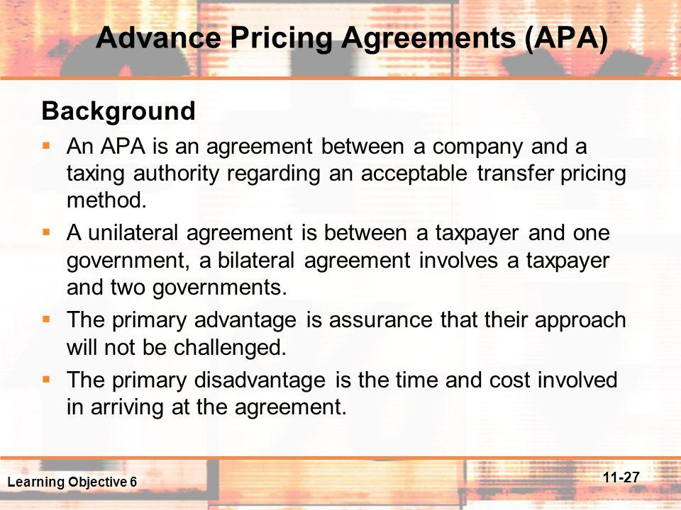 Advance Pricing Agreement Template