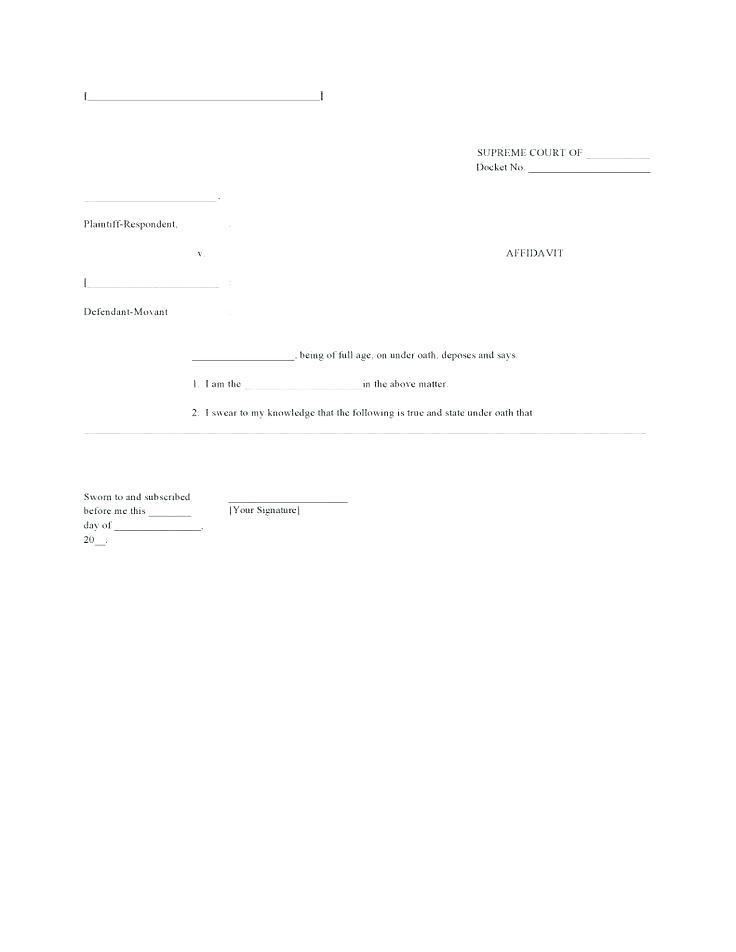 Affidavit Of Loss Document Template