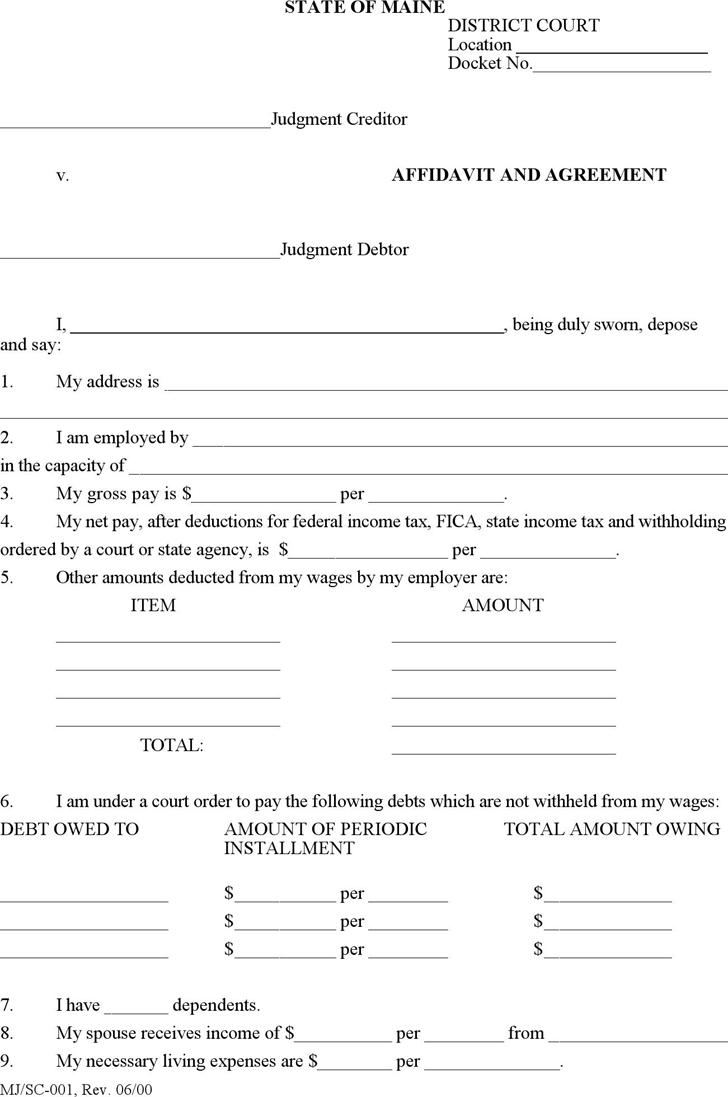 Affidavit Template Free Download South Africa