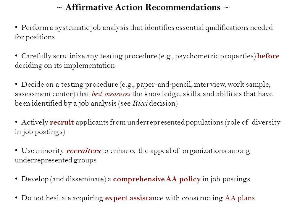 Affirmative Action Plan Format