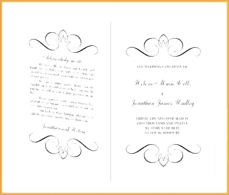 African Traditional Wedding Program Templates