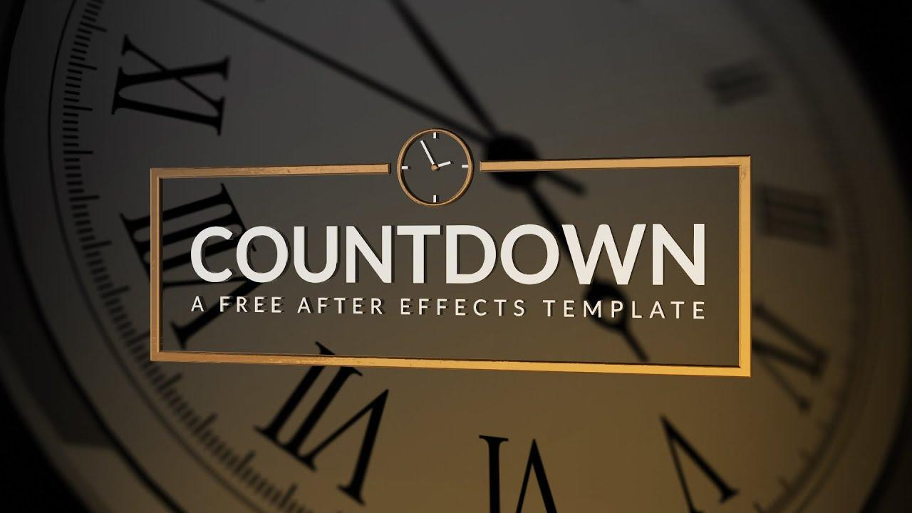 After Effects Countdown Template