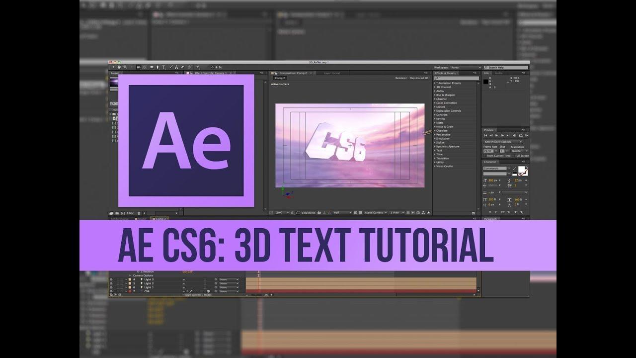 After Effects Cs6 3d Text Template