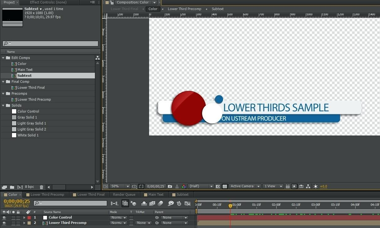 After Effects Lower 3rd Templates