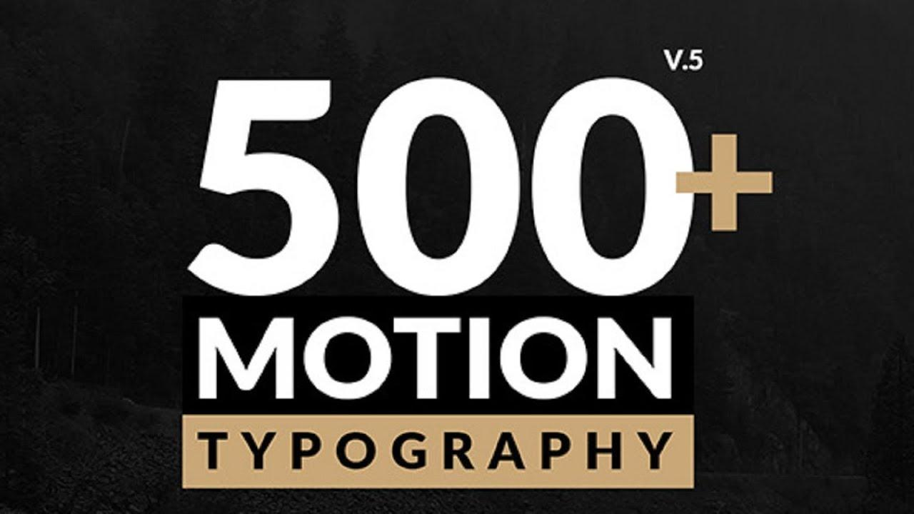 After Effects Motion Typography Template