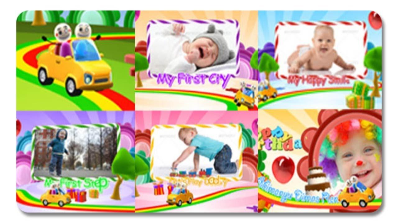 After Effects Template Birthday Photo Intro