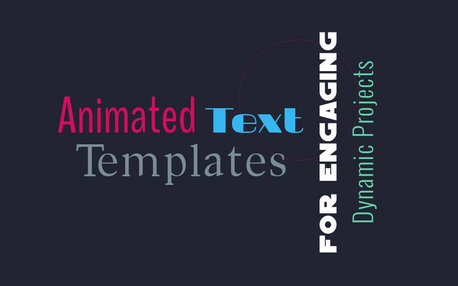 After Effects Template Brush Kinetic Typography