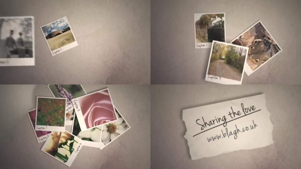 After Effects Template Slideshow Photos