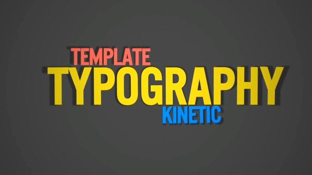 After Effects Template Typography