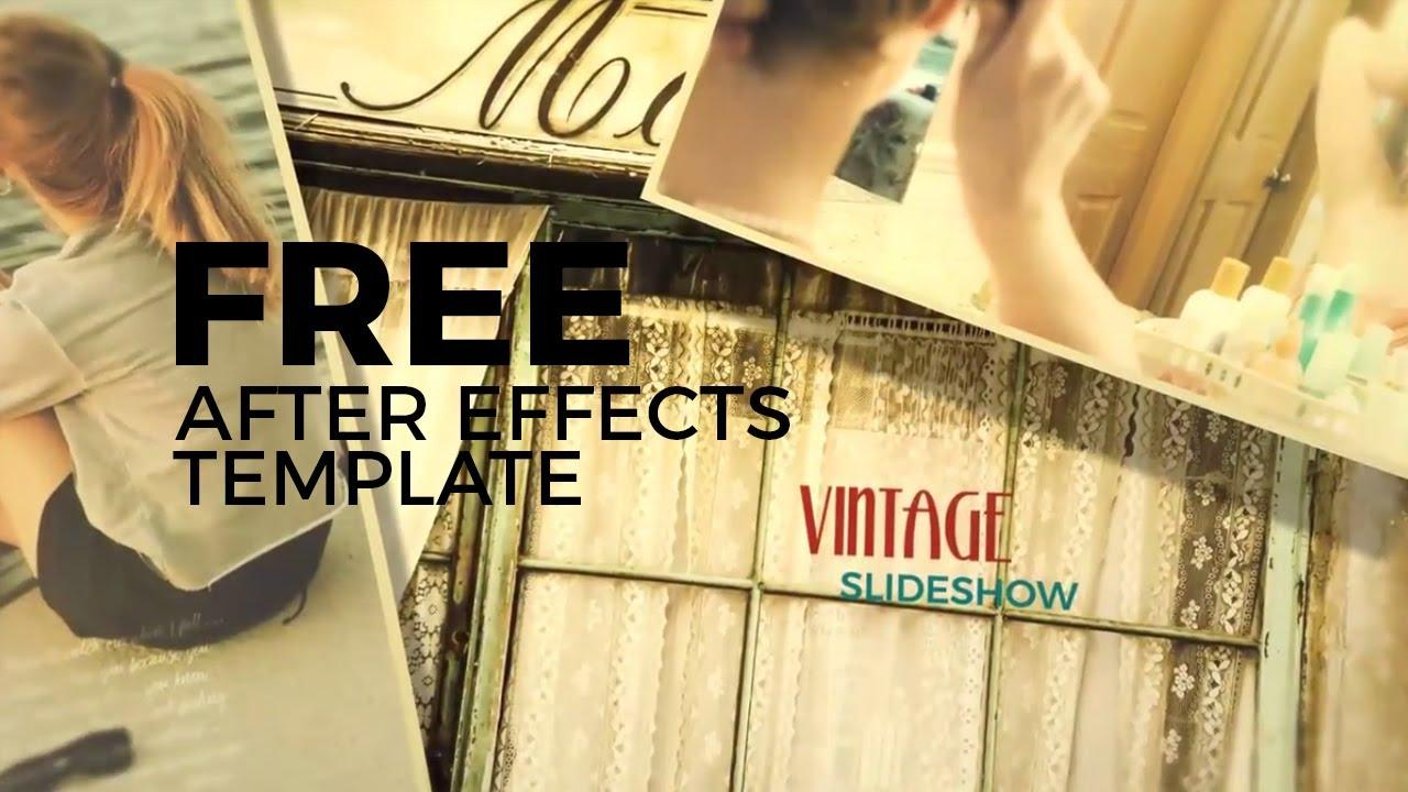 After Effects Templates Free Slideshow