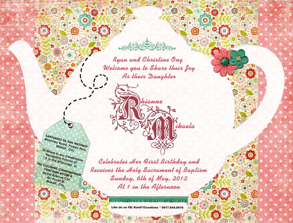 Afternoon Tea Party Invitation Template Free