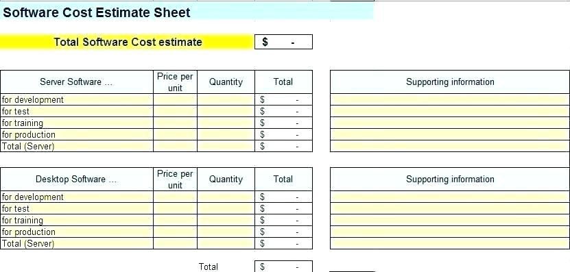 Agile Project Estimation Template Excel