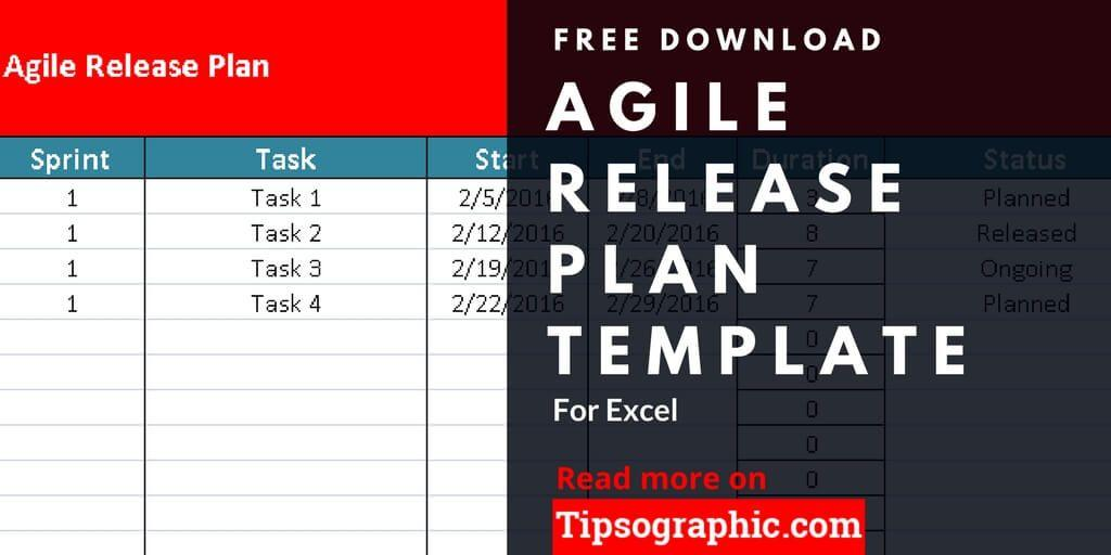 Agile Release Management Plan Template