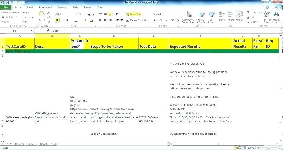 Agile Test Plan Document Template