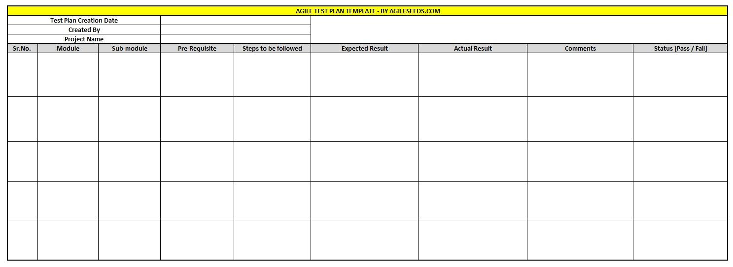 Agile Uat Test Plan Template