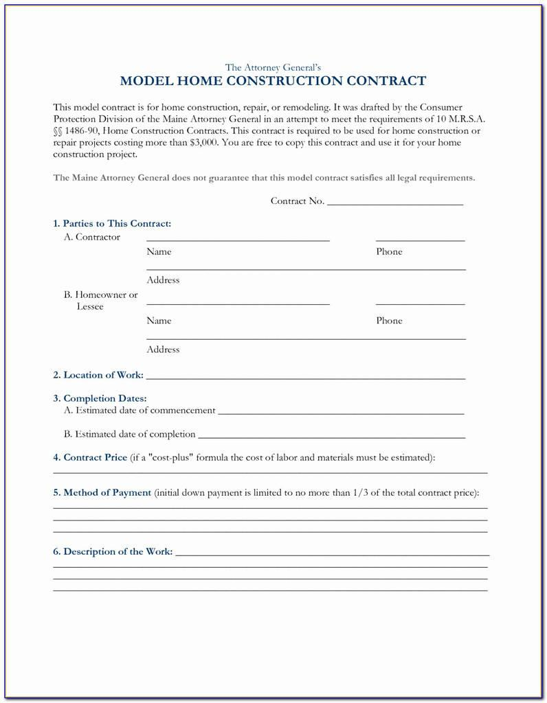 Aia Cost Plus Contract Template