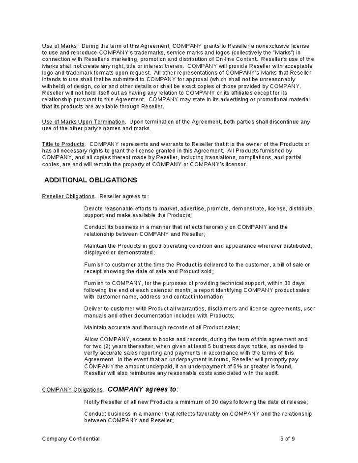 Aircraft Brokerage Agreement Template