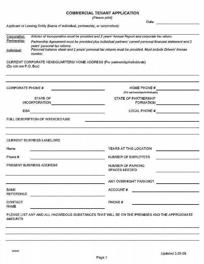 Alberta Tenant Lease Agreement Form