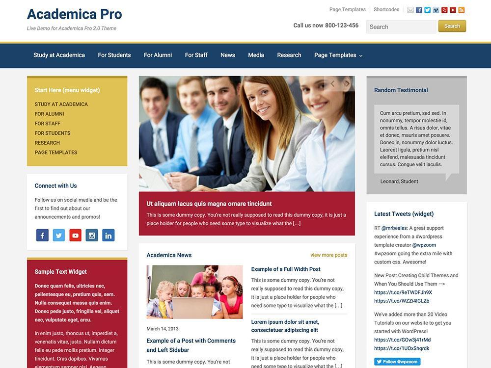 Alumni Website Templates