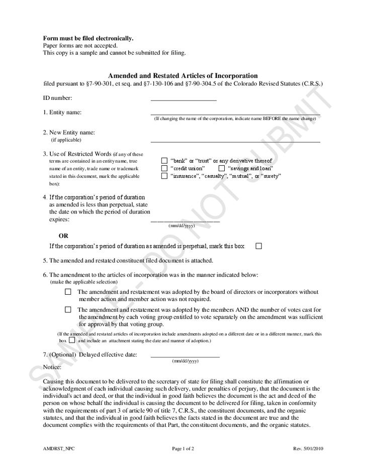 Amend The Articles Of Organization Template Georgia