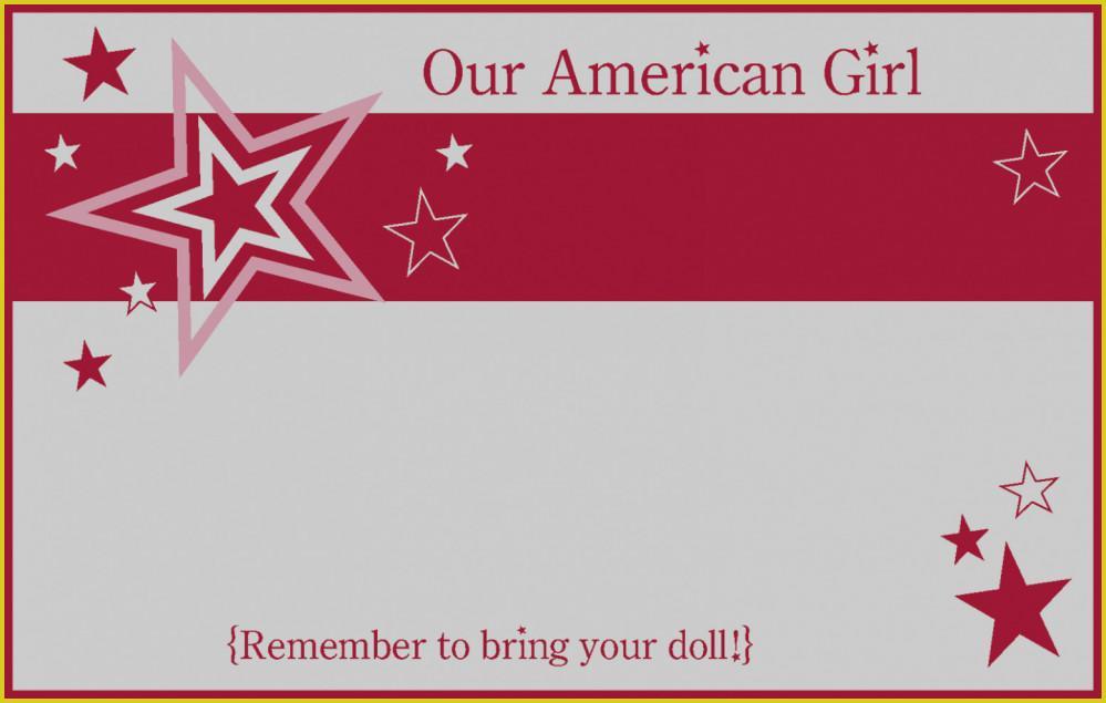 American Girl Birthday Invitation Templates