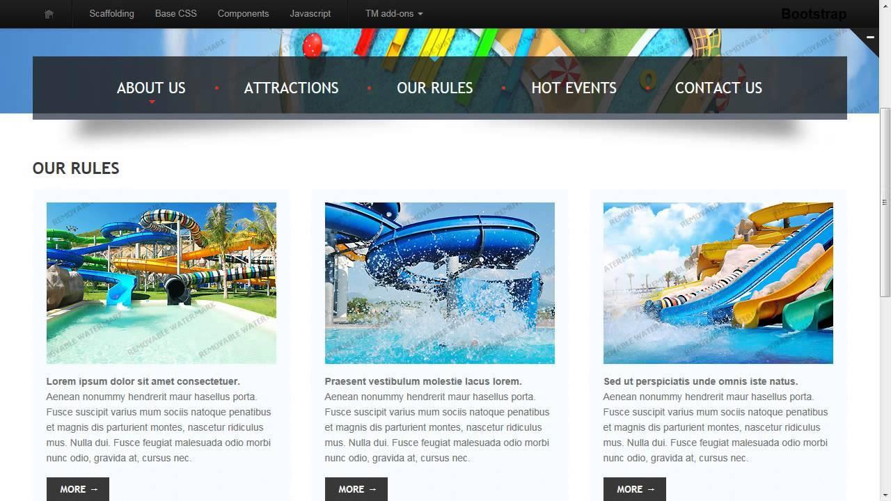 Amusement Park Responsive Website Template