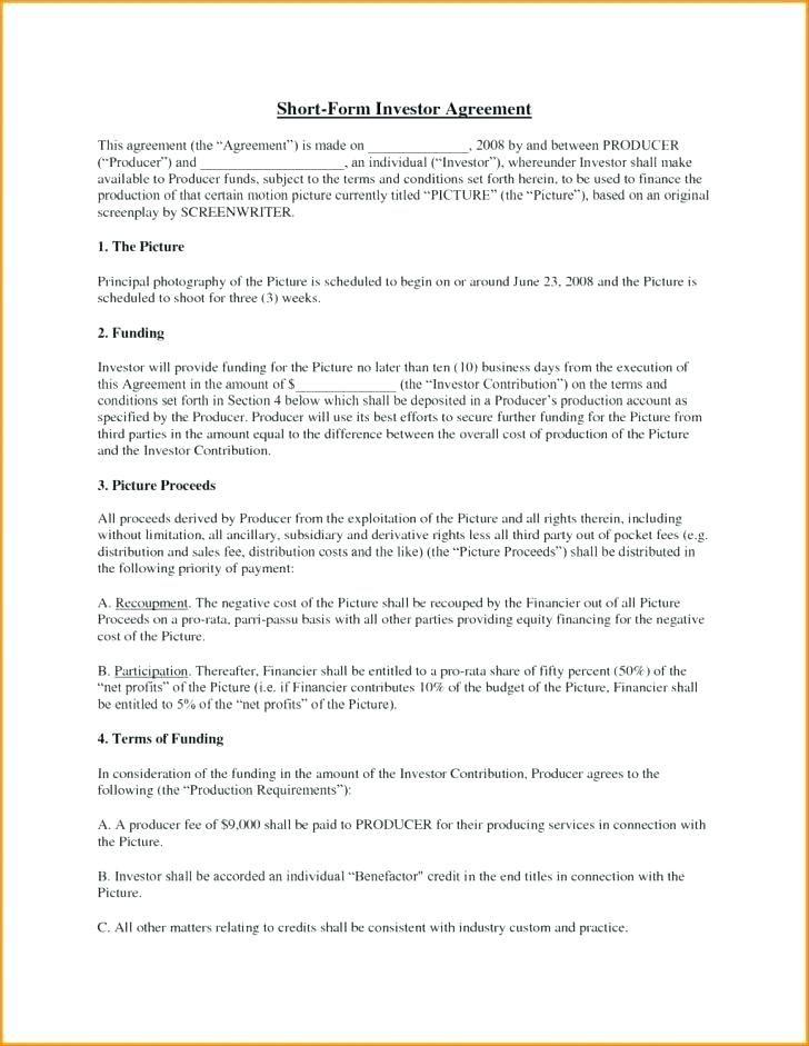 Angel Investor Contract Template