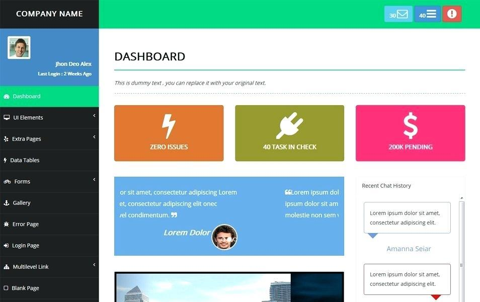 Angularjs Bootstrap Website Template Free