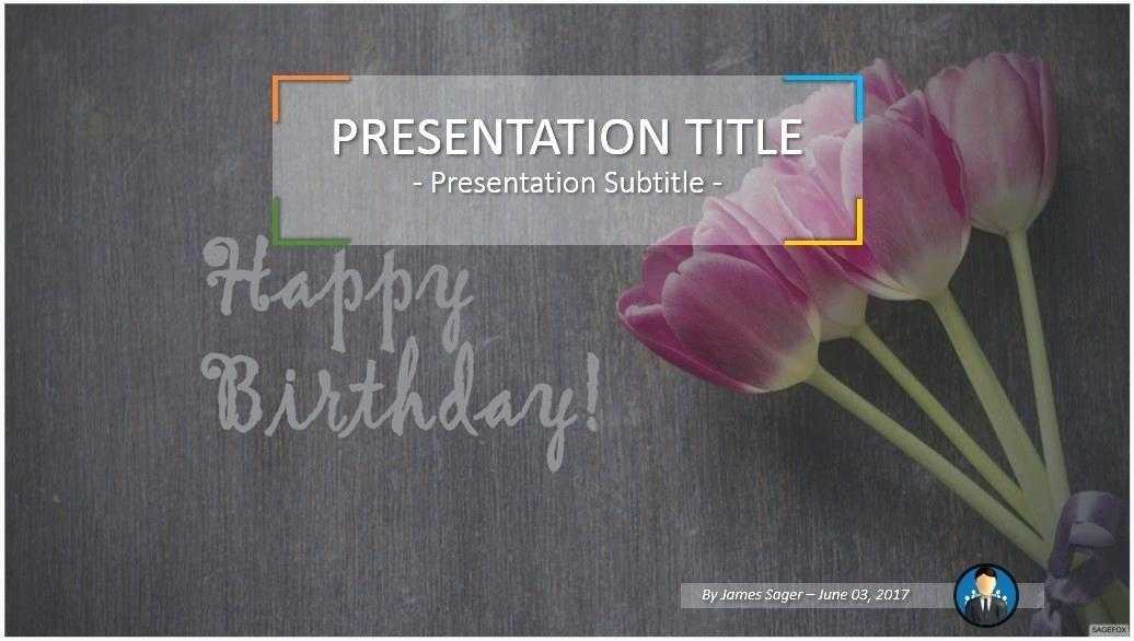 Animated Birthday Powerpoint Templates Free