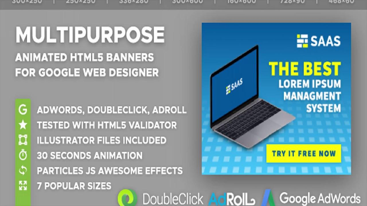 Animated Html5 Banner Ad Templates