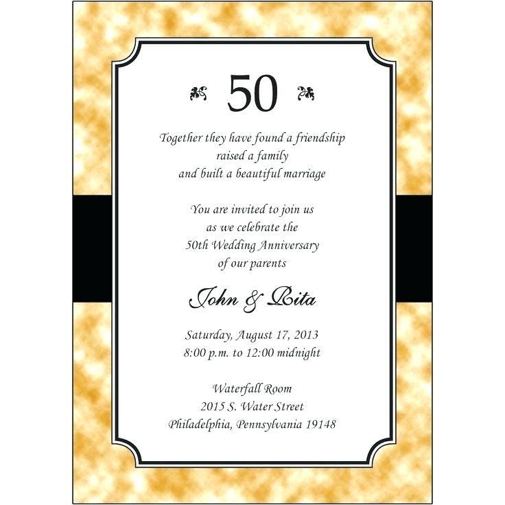 Anniversary Invitation Templates Download