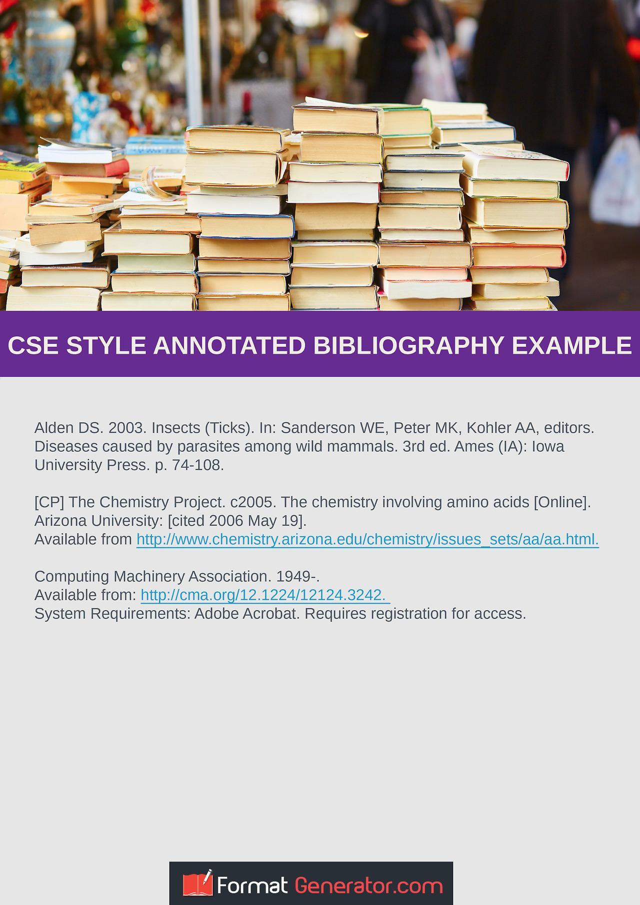 Annotated Bibliography Samples Apa Format