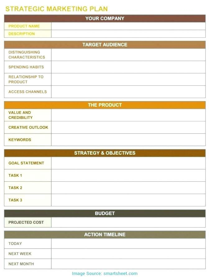 Annual Business Plan Template Excel