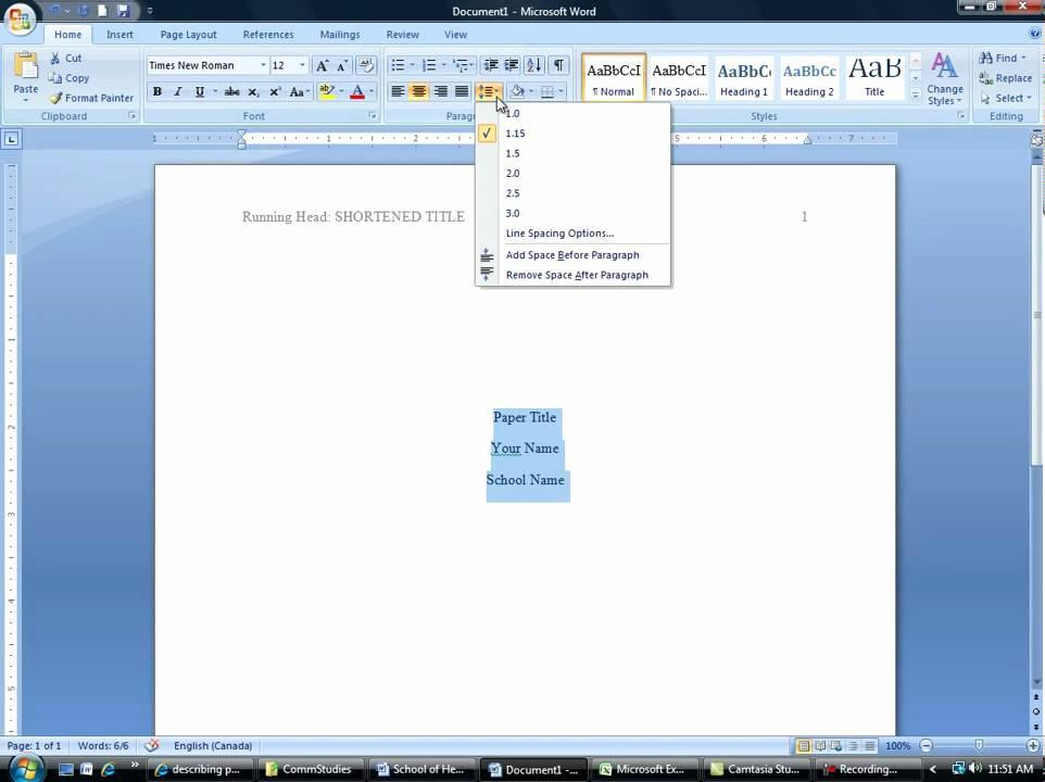 Apa Format 6th Edition Microsoft Word