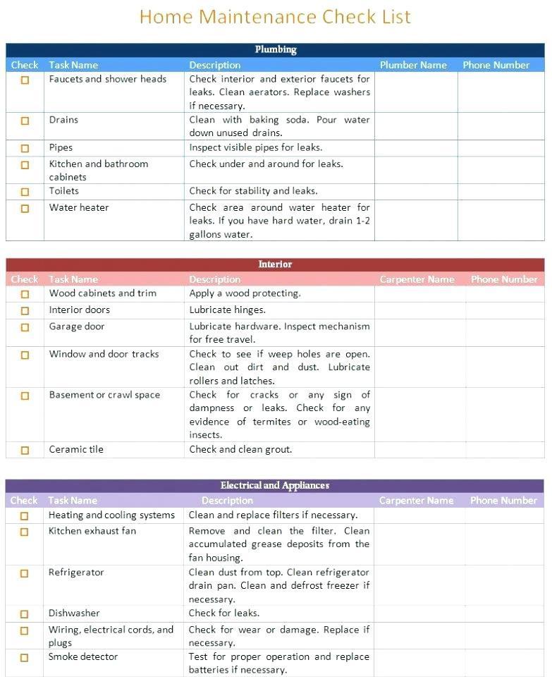 Apartment Move In Checklist Template